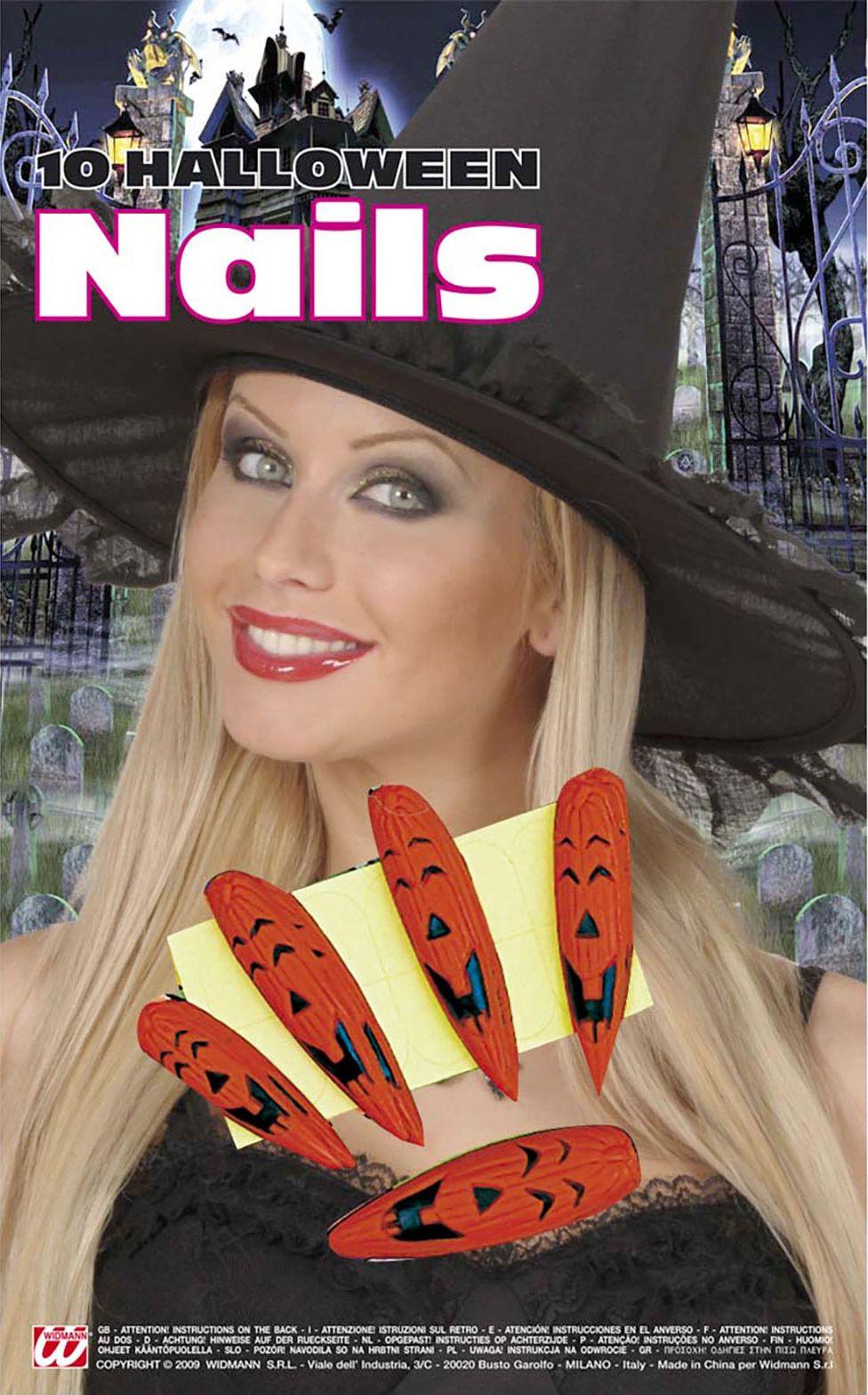 Set van 10 pompoen nagels