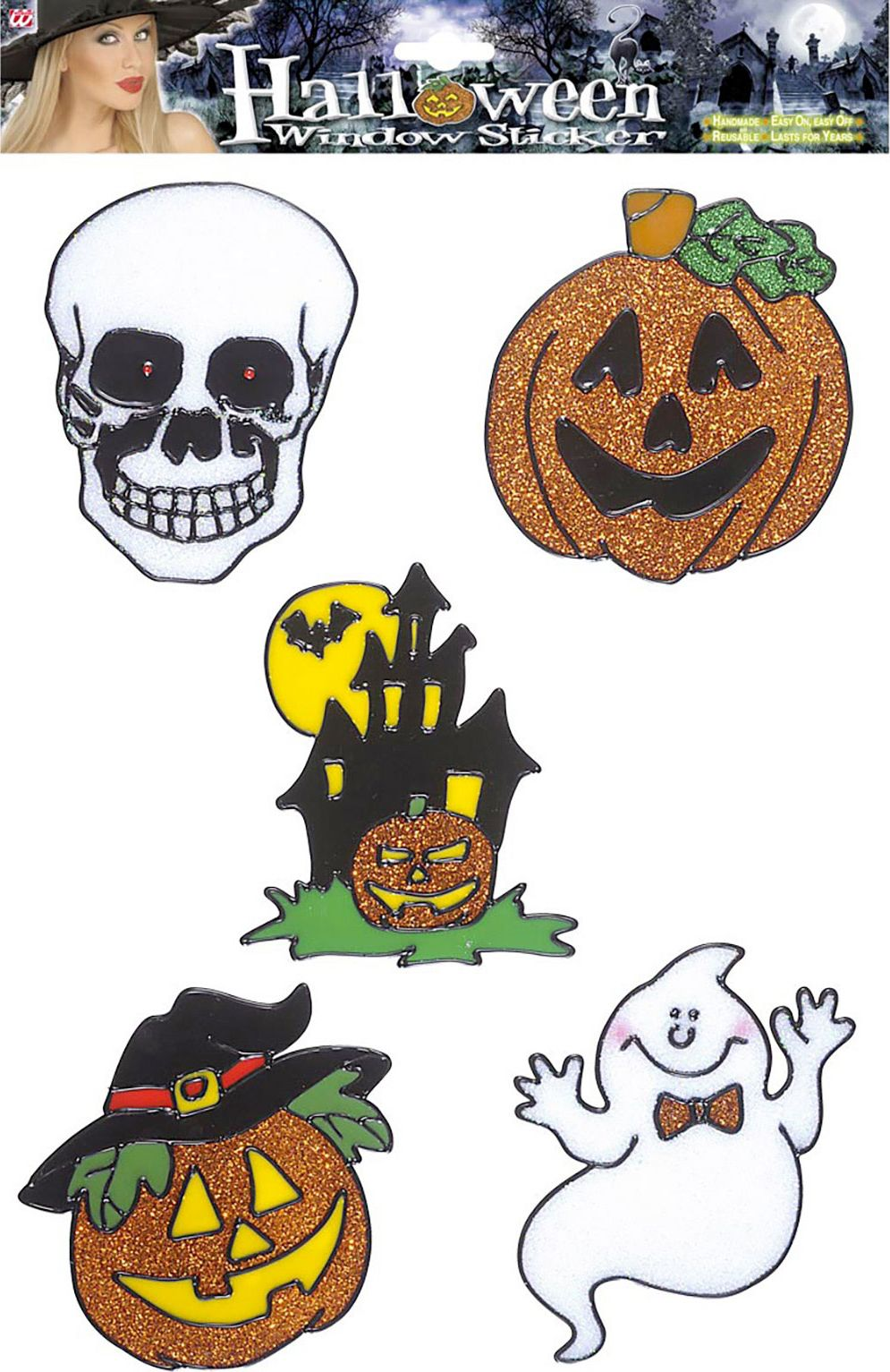 Set van 5 Halloween glitter stickers