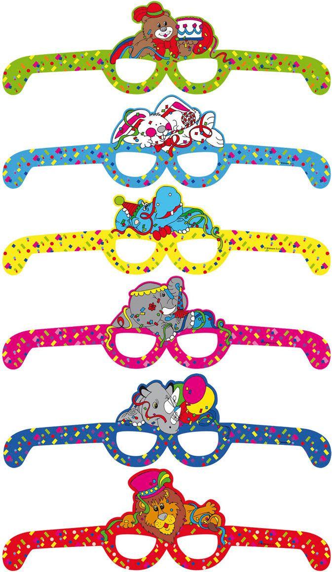 Set van 6 dieren kinder brillen