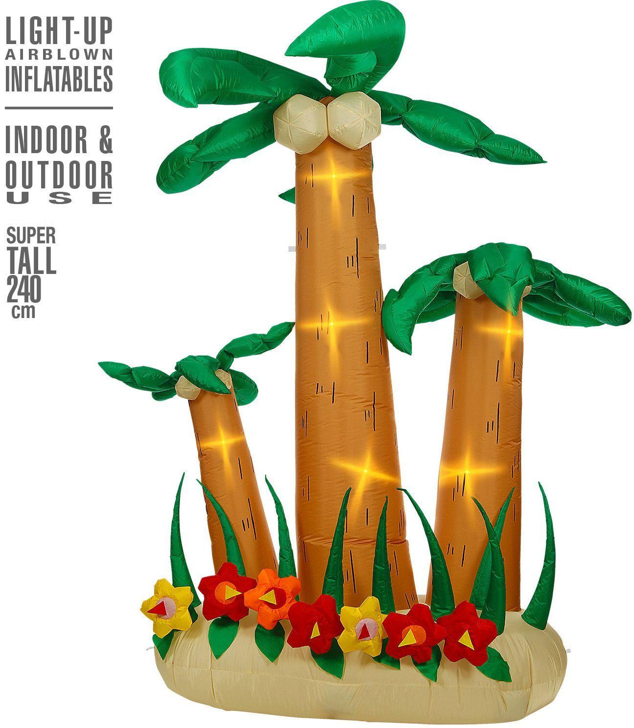 Set van palmbomen hawaii