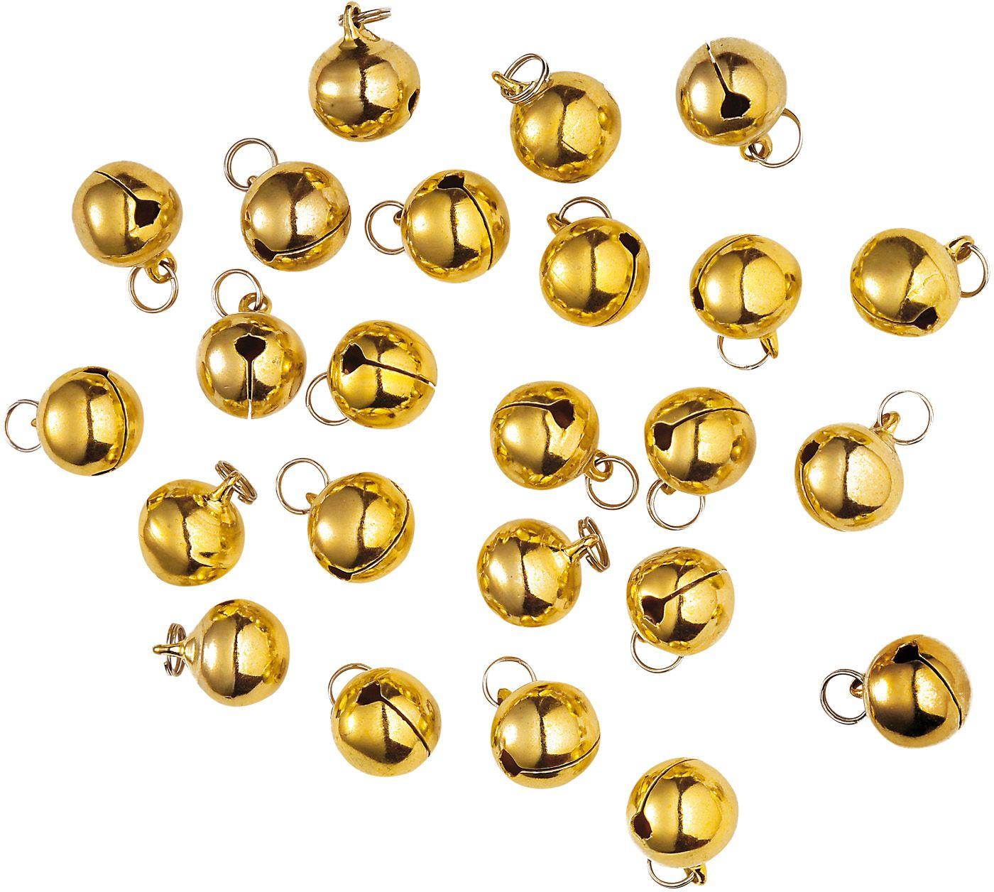 Setje met 24 gouden belletjes