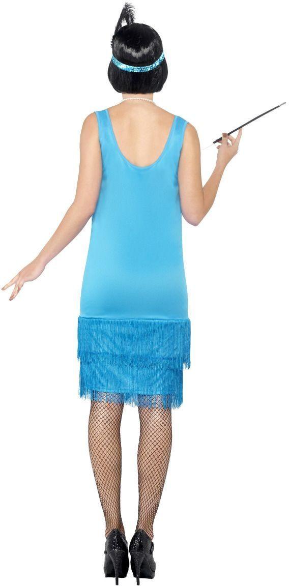 Sexy blauwe flapper jurkje
