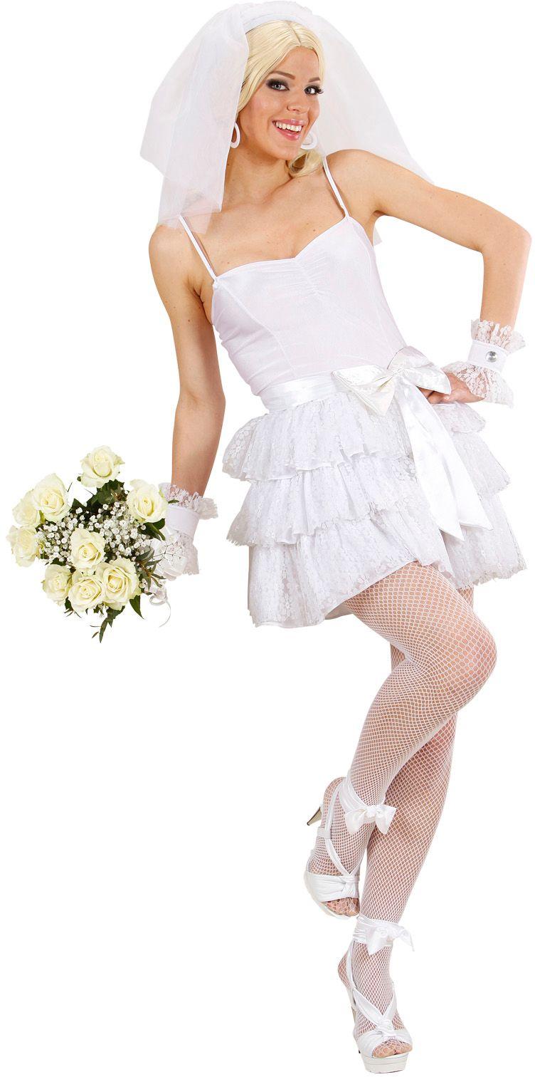 Sexy bruid kostuum