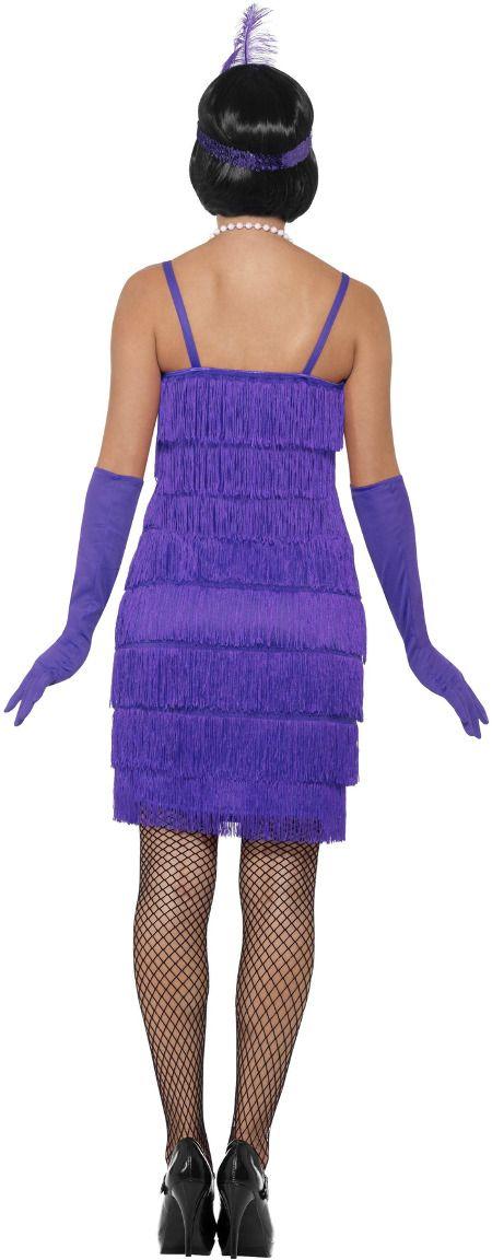 Sexy flapper jurk paars