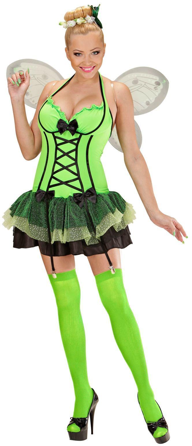 Sexy groene vlinder kostuum