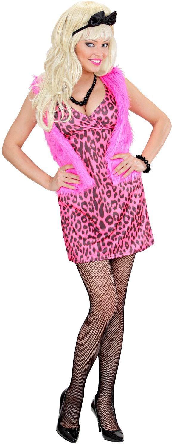 Sexy jaren 80 jurk dames roze