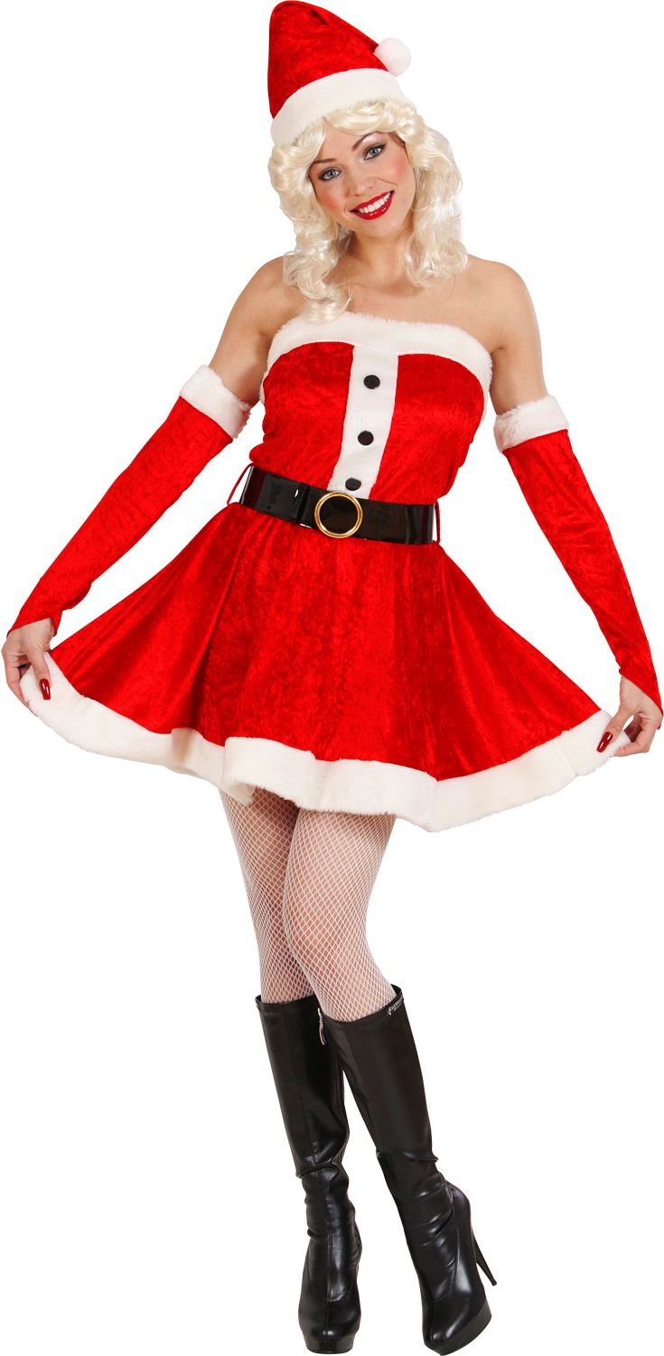 Sexy kerstvrouw pak
