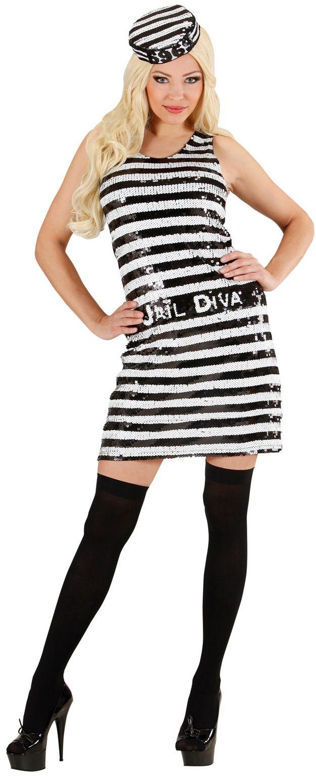 Sexy Pailletten Jurk Gevangene
