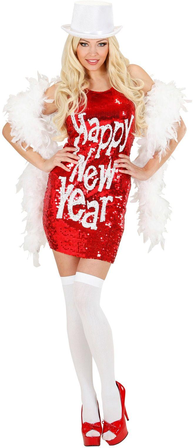 Sexy Pailletten Jurk Happy New Year