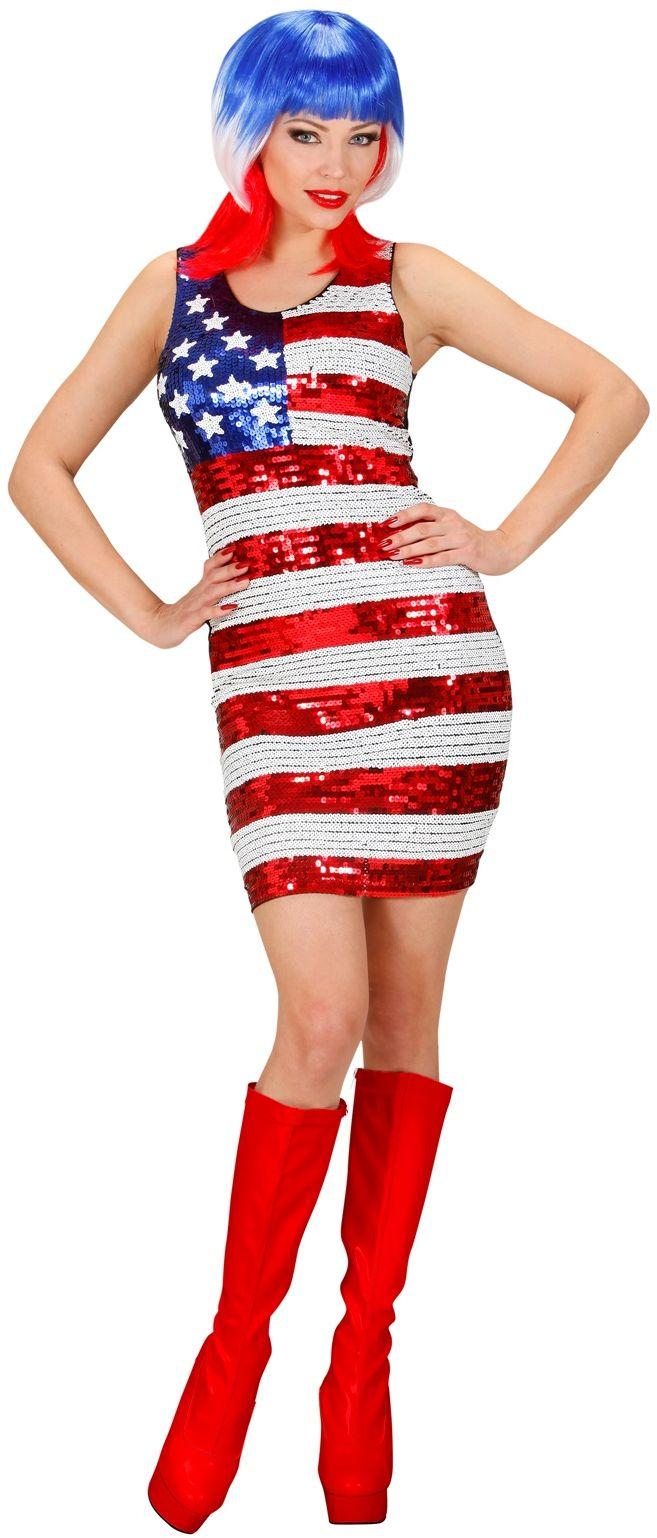 Sexy Pailletten Jurk Miss USA