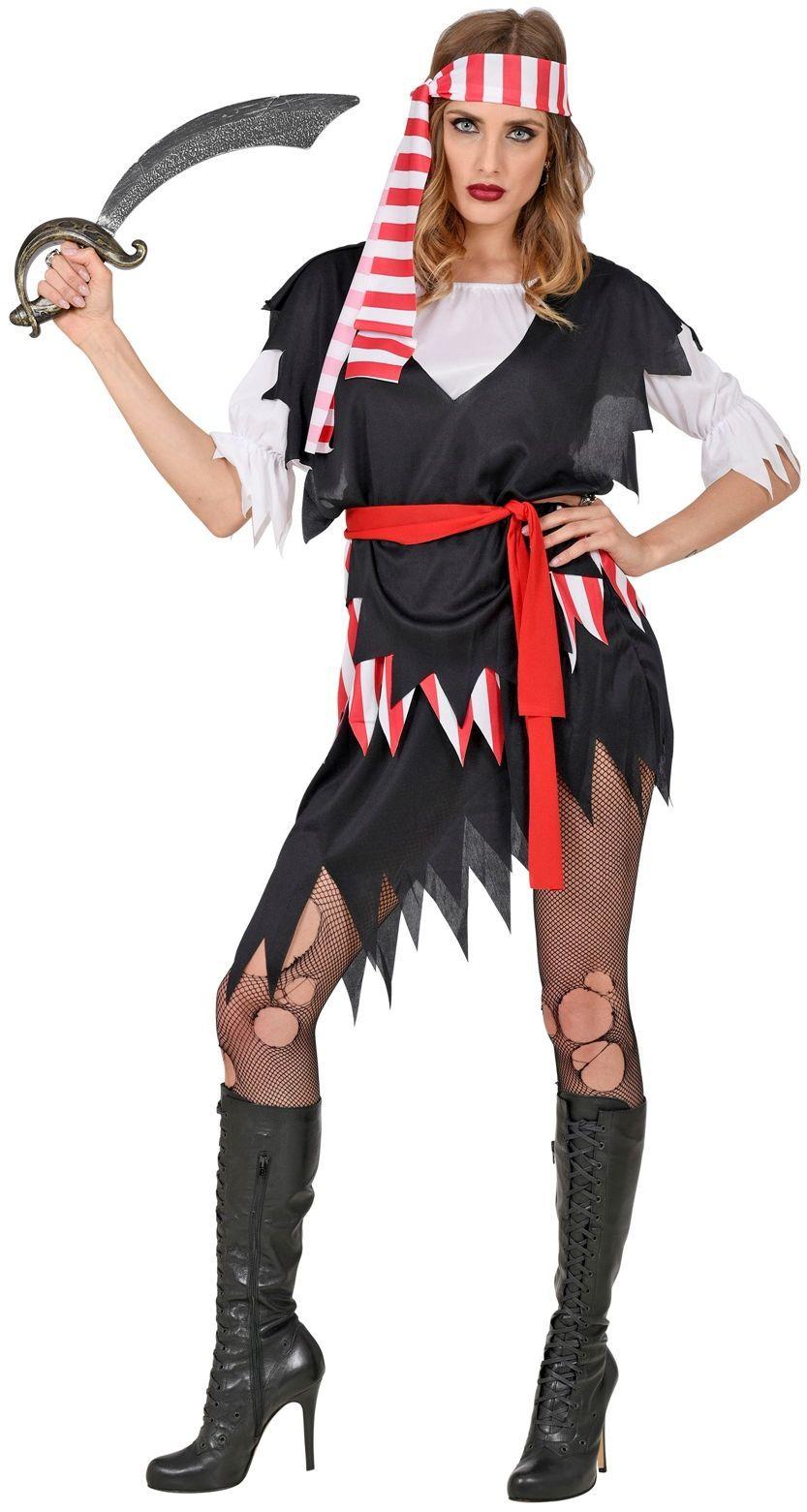 Sexy piraten kostuum zwart