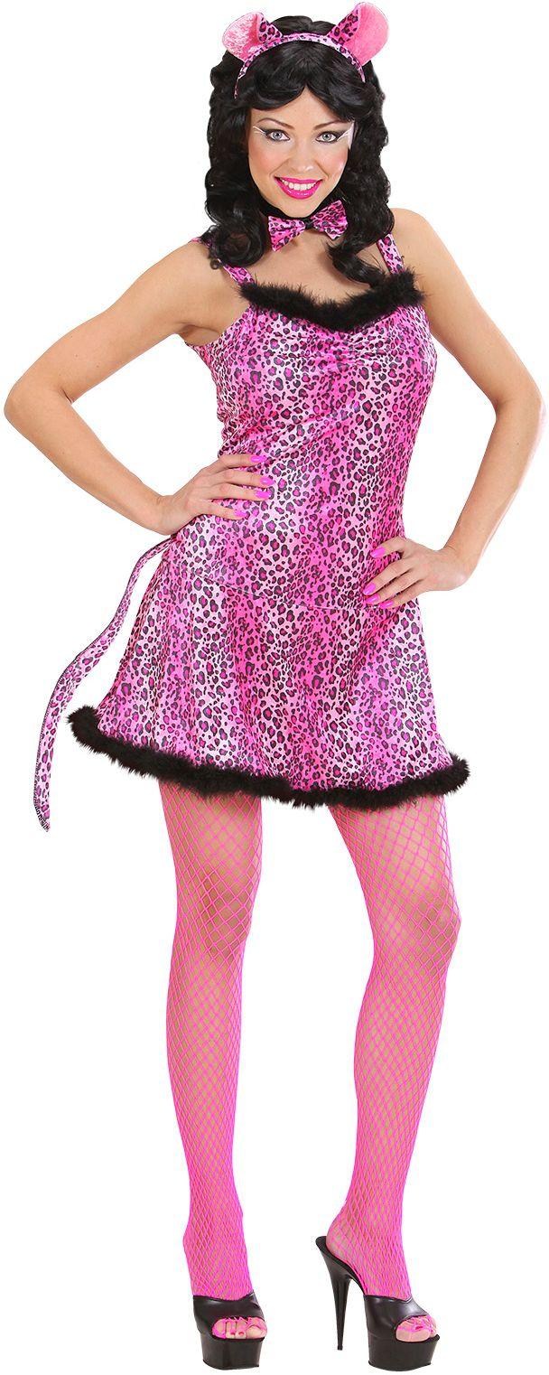 Sexy roze luipaard pakje