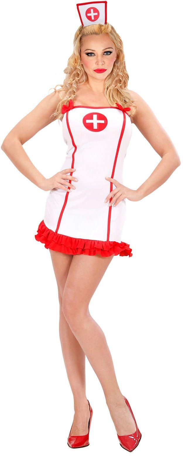 Sexy Verpleegster Wit Kostuum
