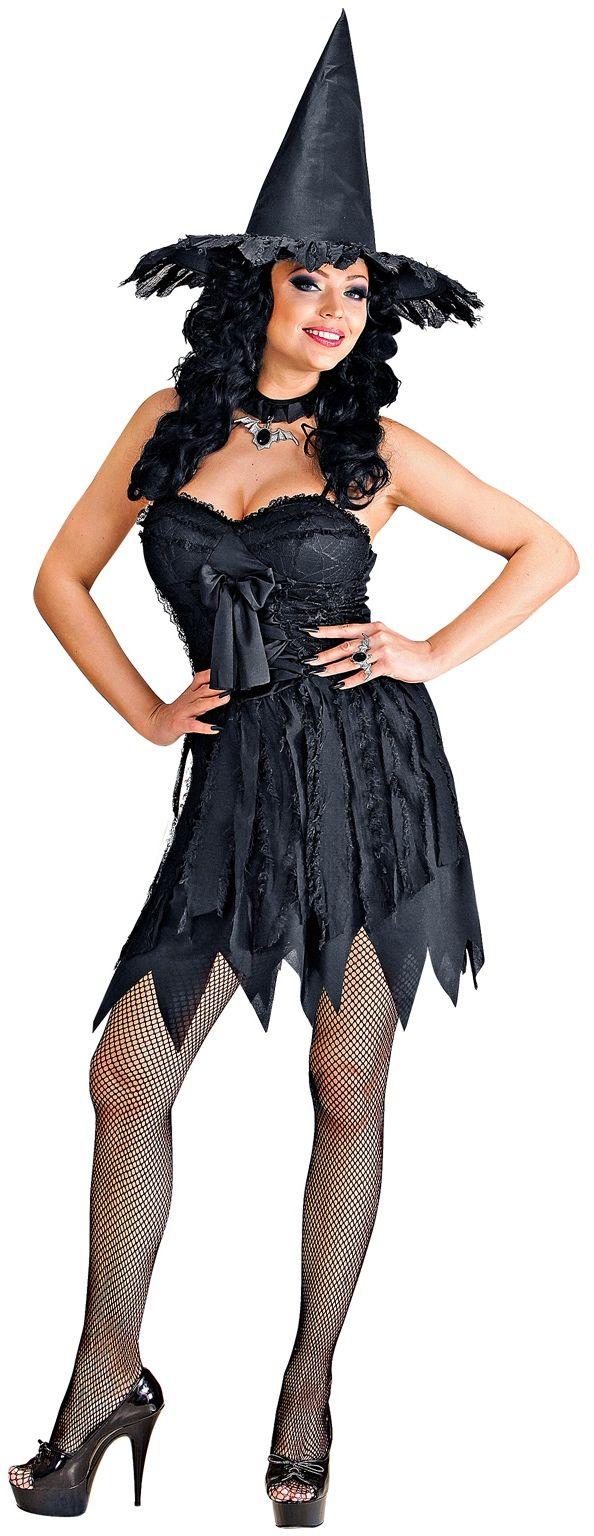 Sexy zwart heksen kostuum