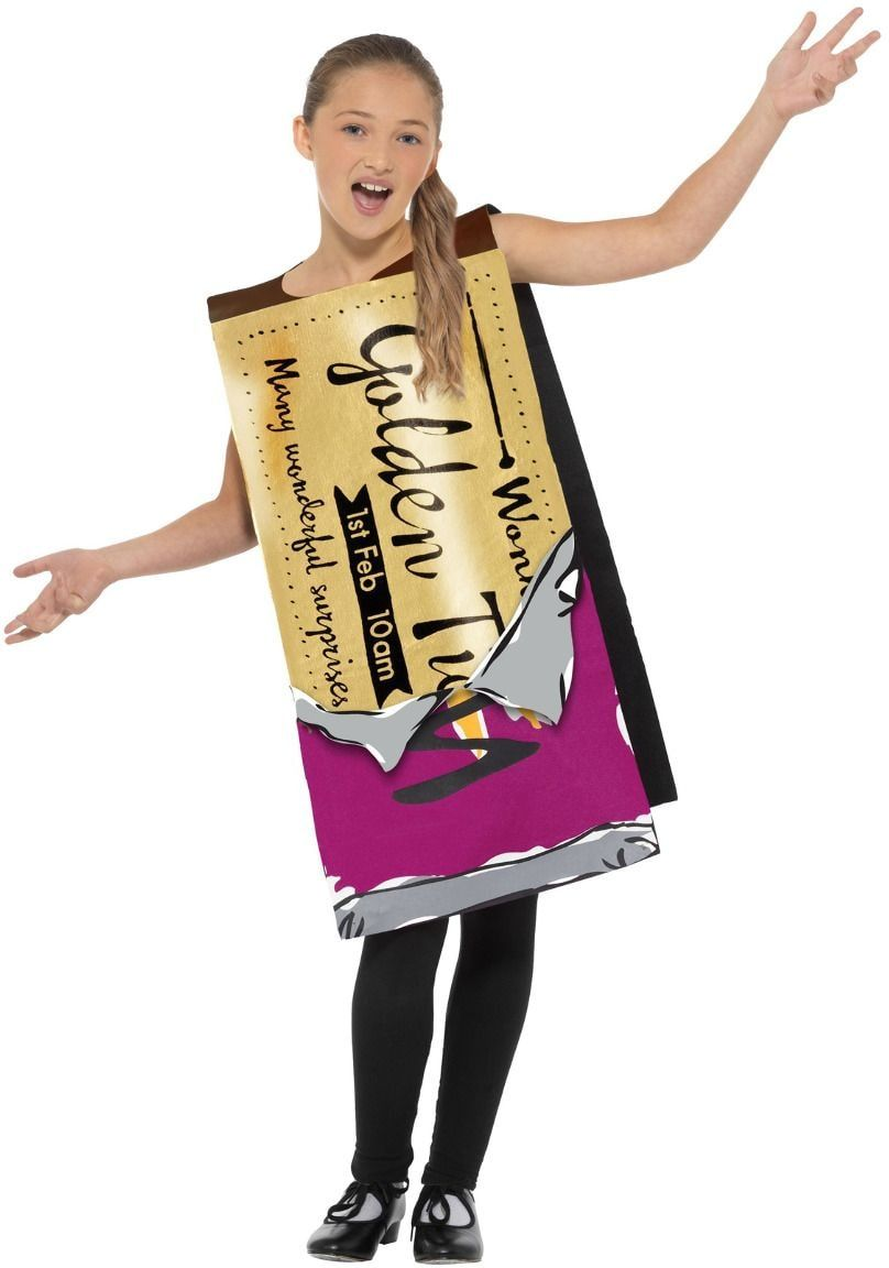 Sjakie Willy Wonka gouden wikkel kostuum