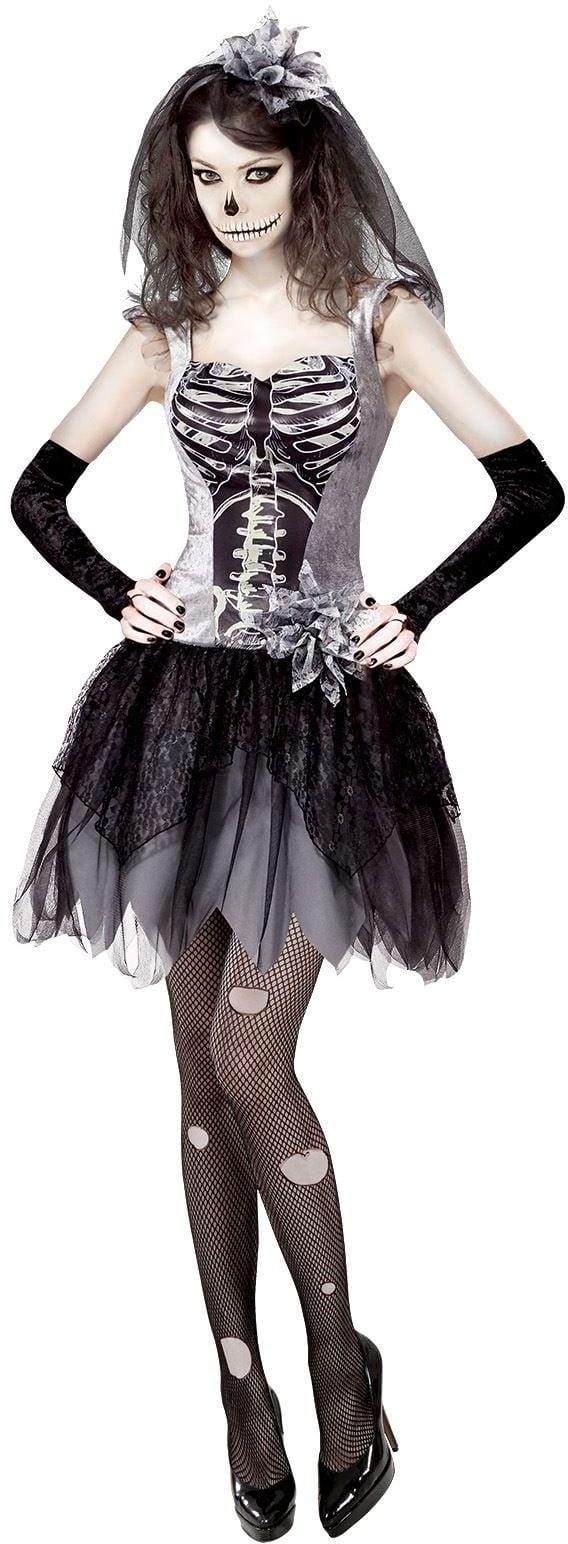 Skelet bruid kostuum