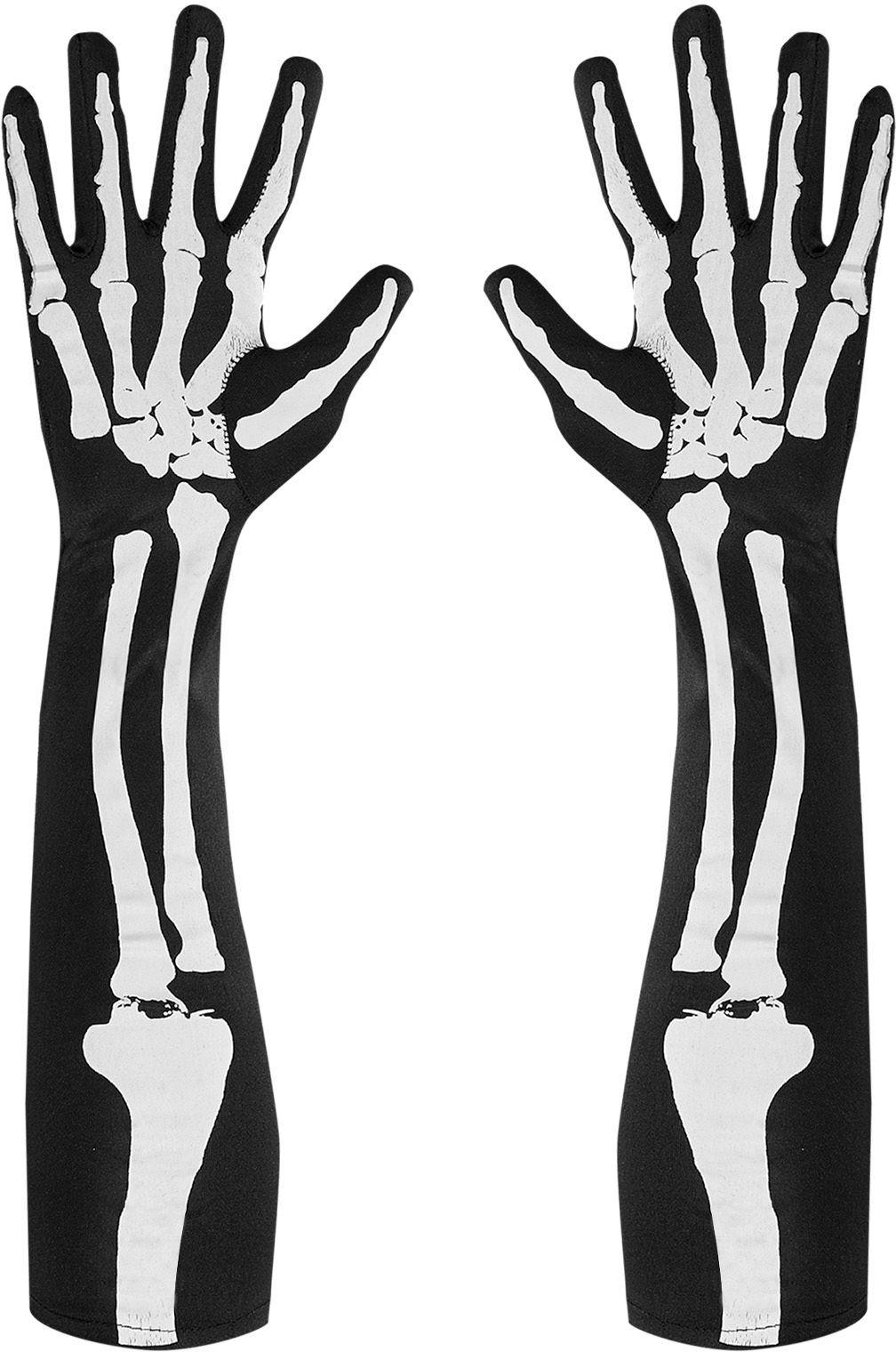 Skelet handschoenen One-size-volwassenen