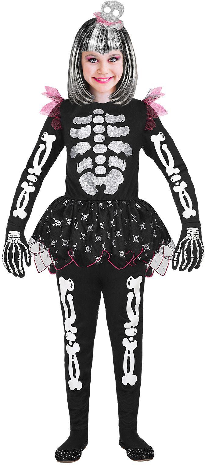 Skelet kostuum meisjes