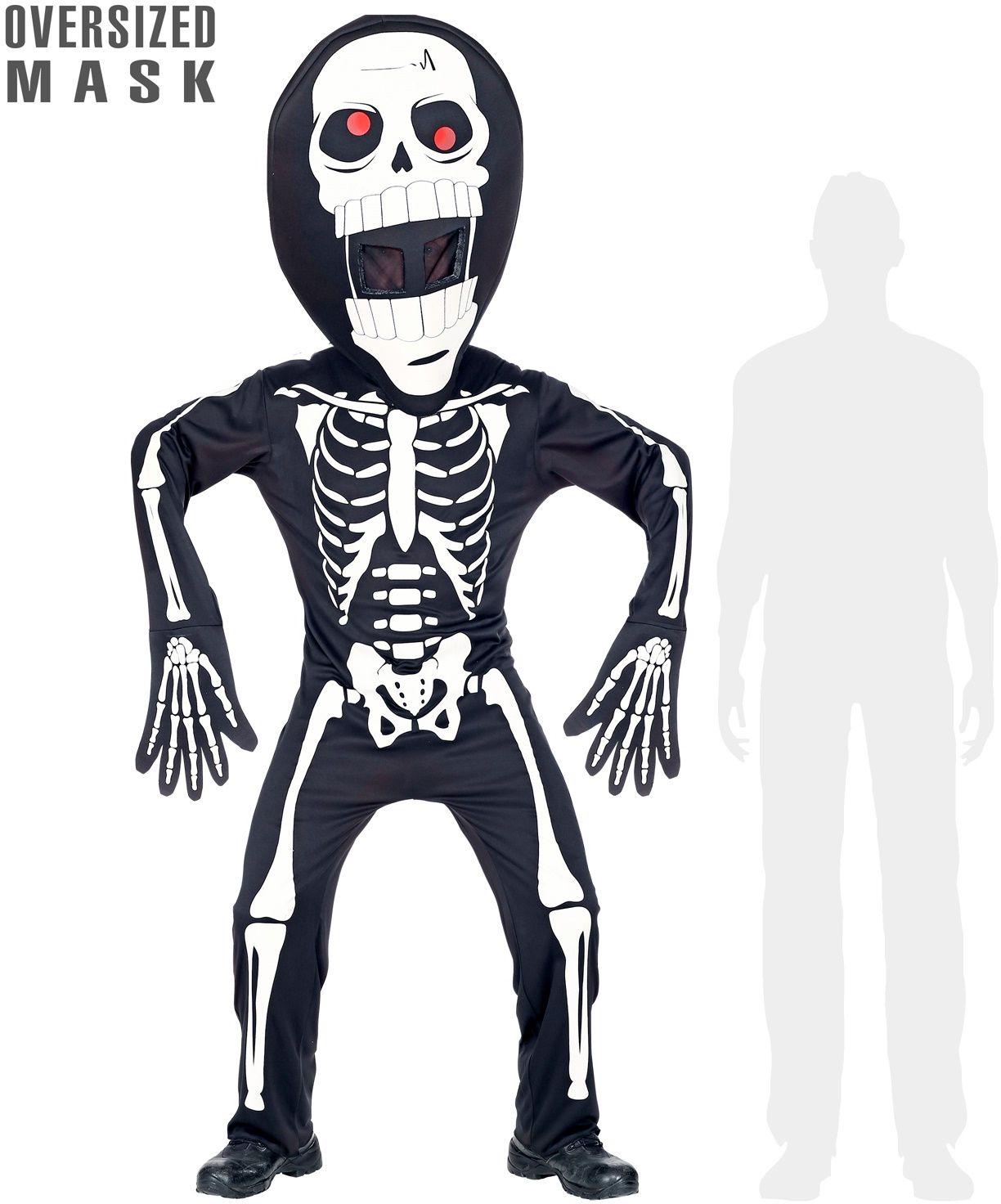Skelet pak met groot hoofd