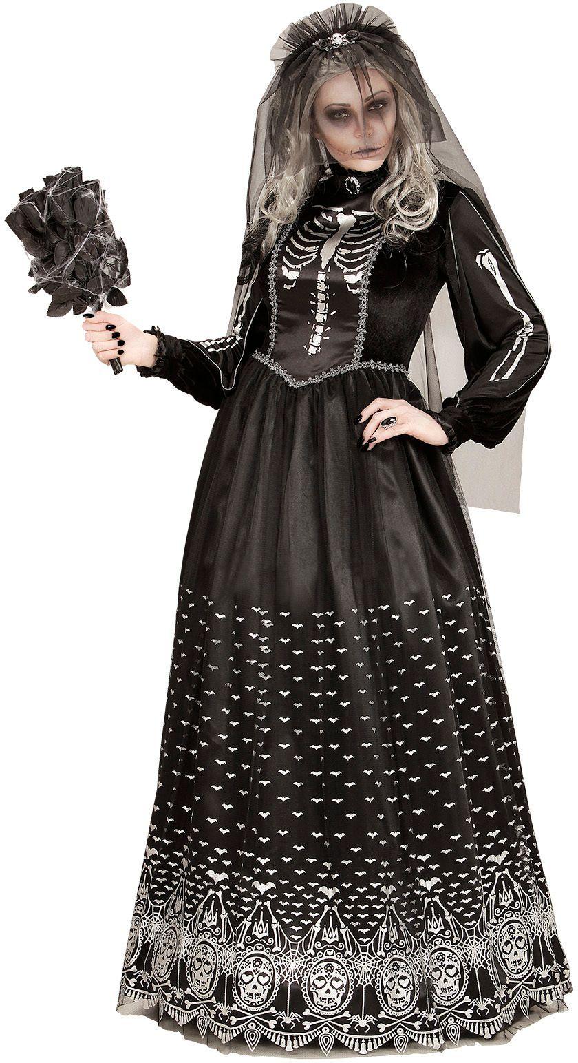 Skelet zombie bruid