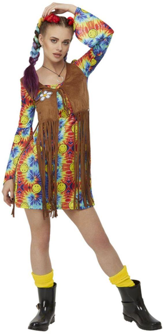 Smiley hippie kinder jurk