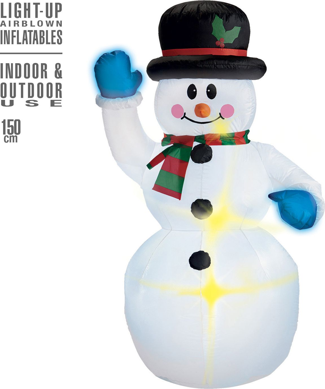 Sneeuwpop decoratie opblaasbaar