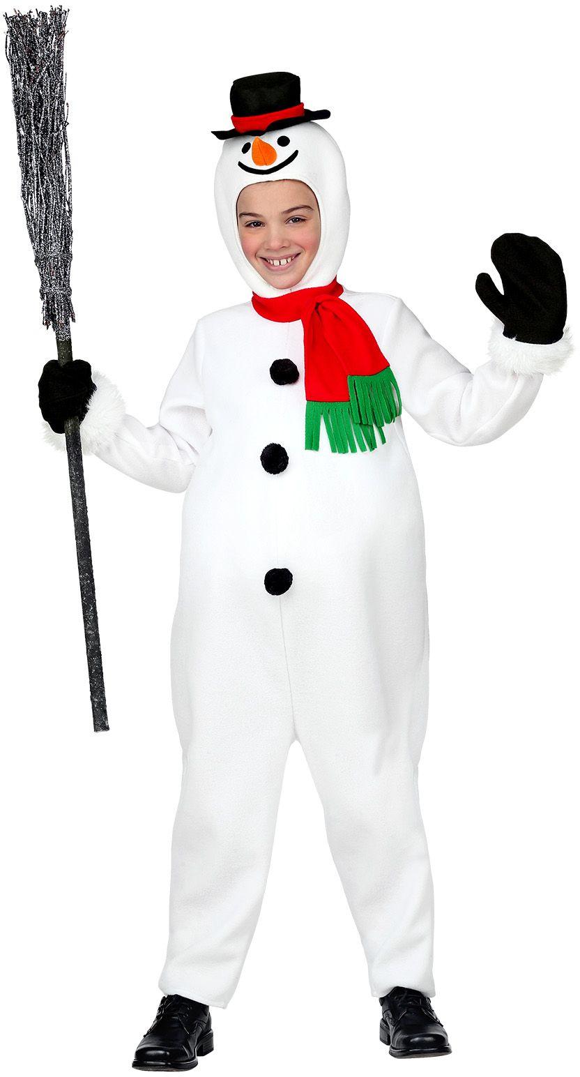 Sneeuwpop jongens kostuum