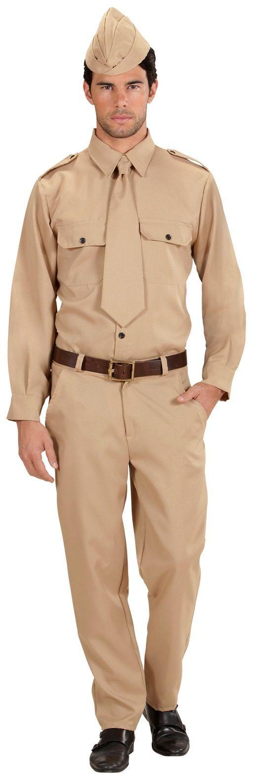 Soldaat beige kostuum