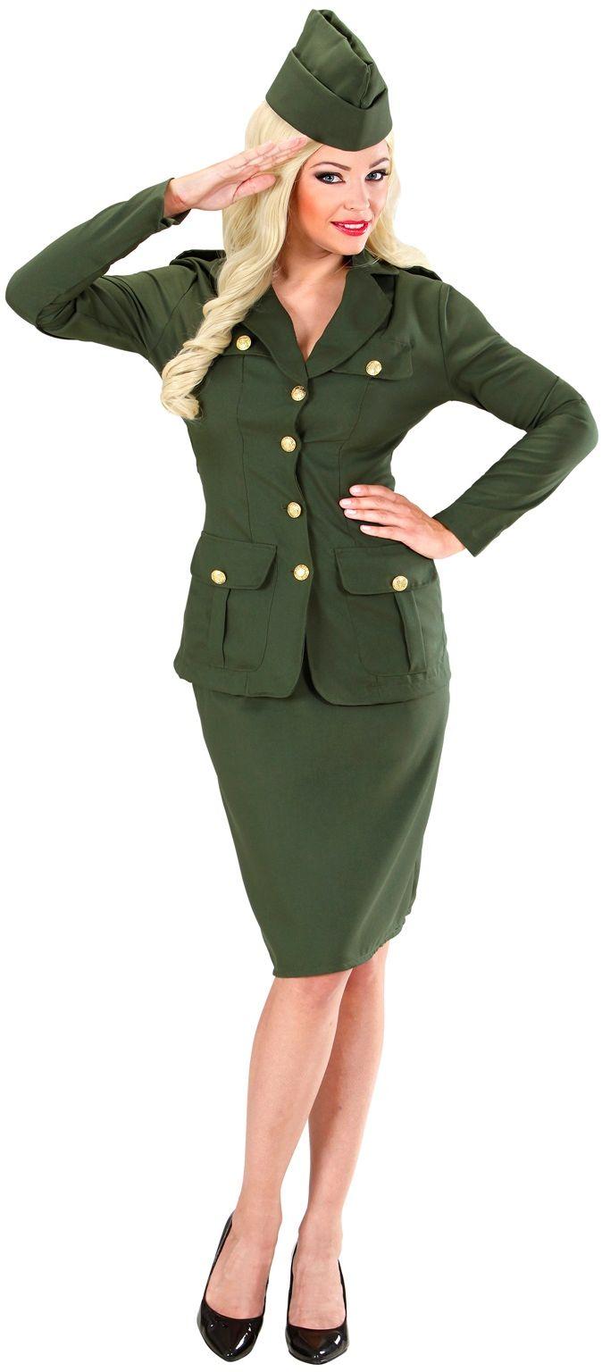 Soldate secretaresse kostuum