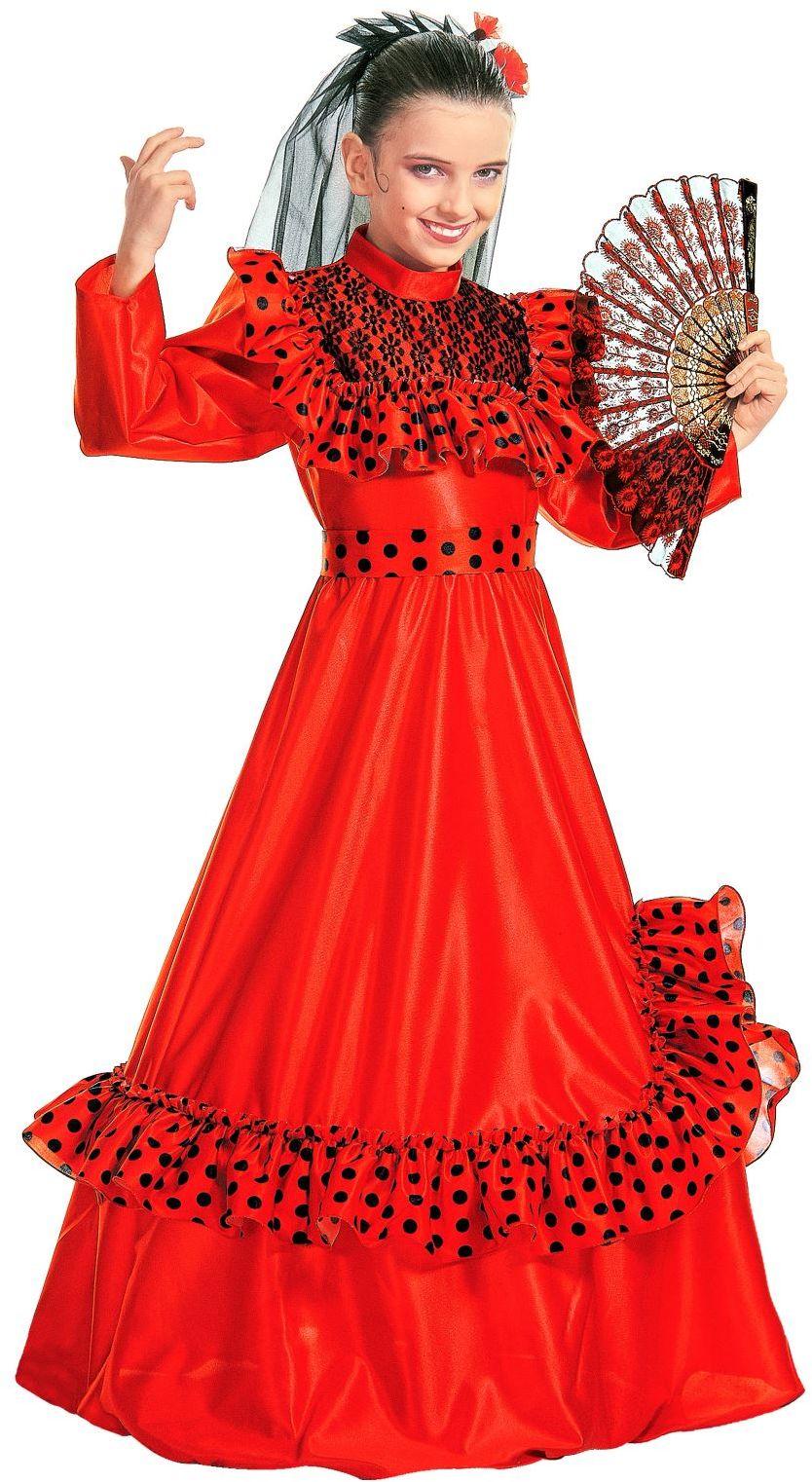 Spaans flamenco meisje kostuum