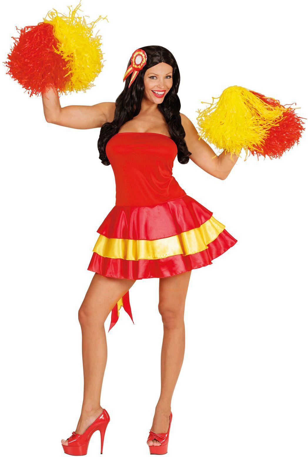 Spaans jurk met haarstukje