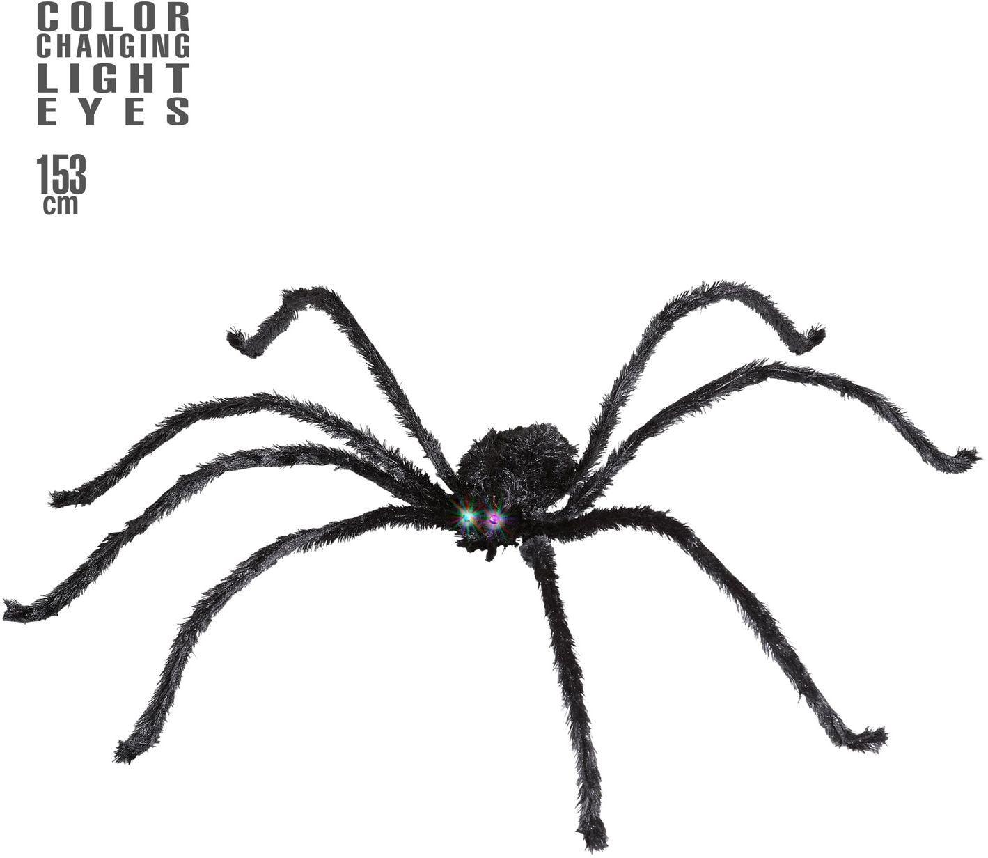 Spin met lichtgevende en van kleur veranderende ogen