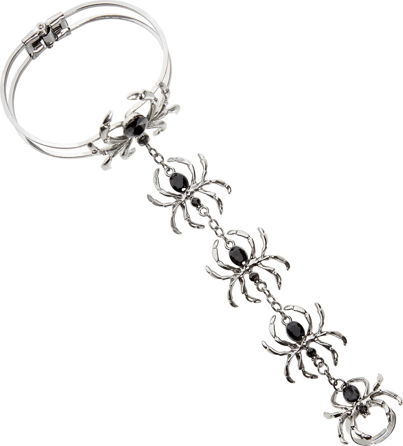 Spinnen armband met ring