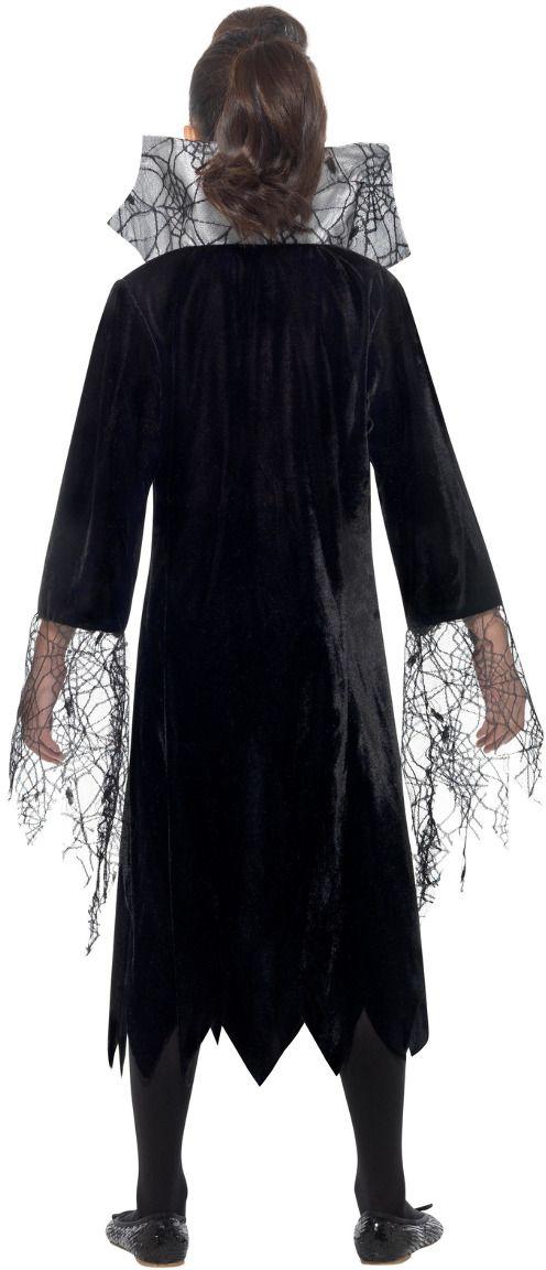 Spinnen vampier kostuum zwart zilver