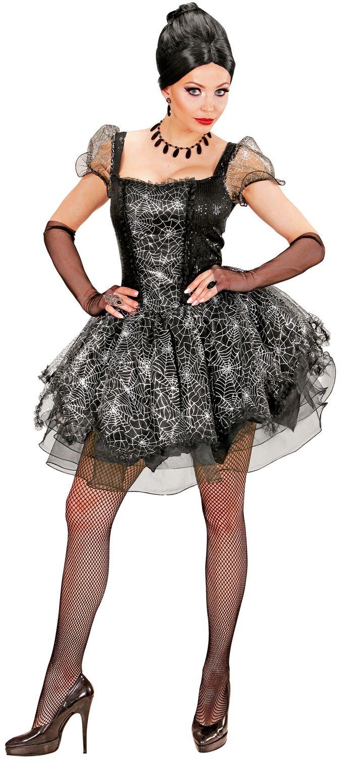 Spinnenweb jurk halloween