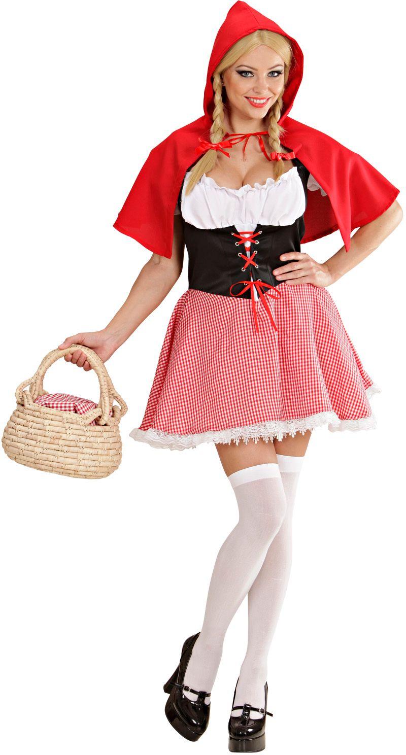 Sprookjes vrouw roodkapje kostuum