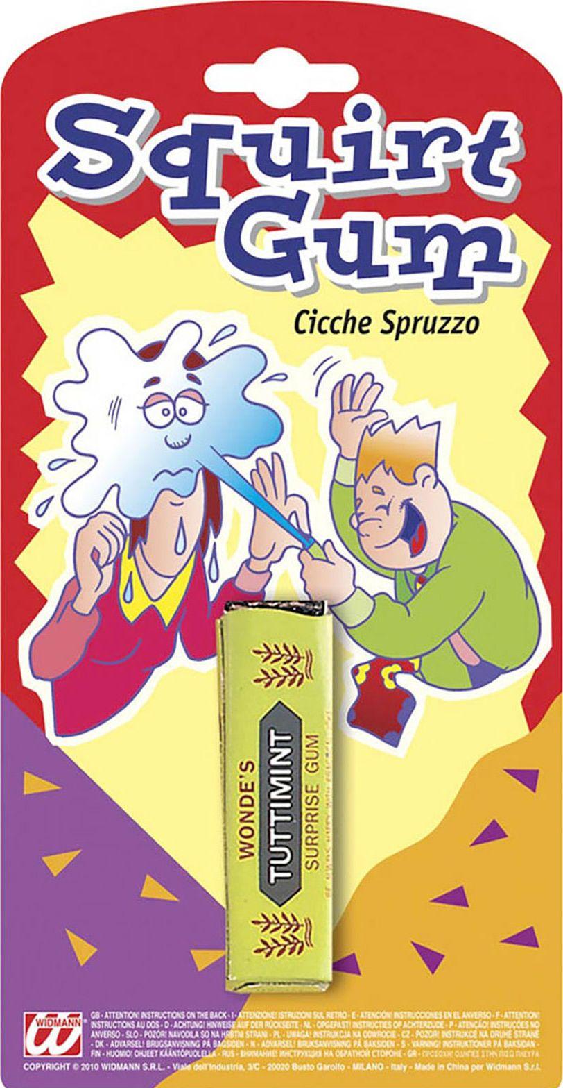Spuitende fop kauwgom