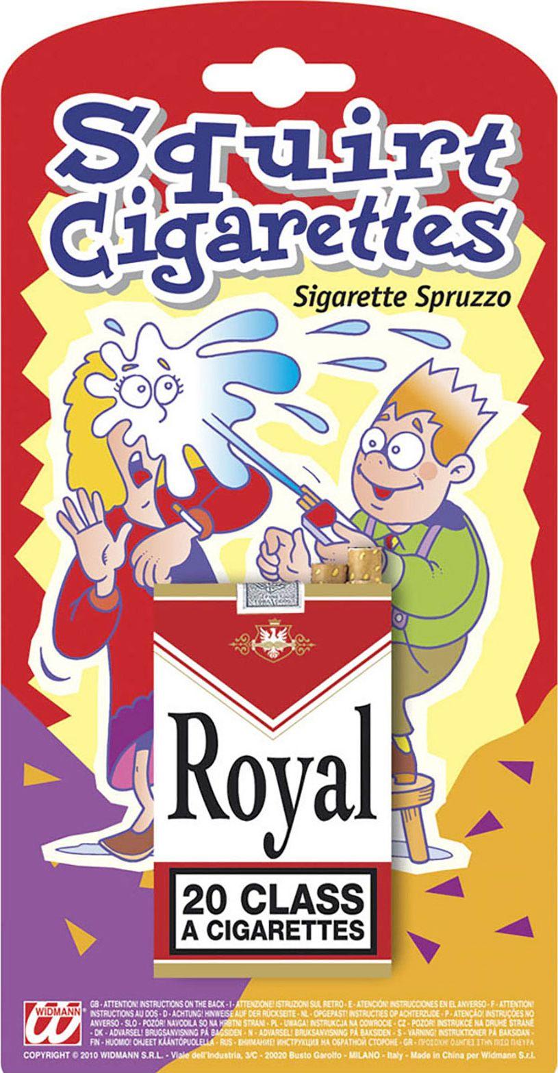 Spuitende fop sigarettendoos