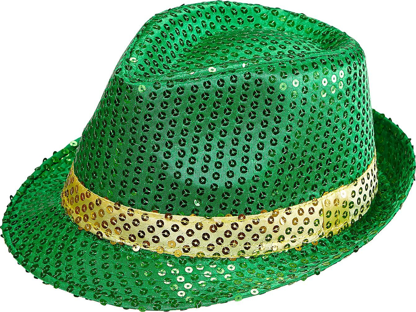 St. Patrick's Day pailletten fedora