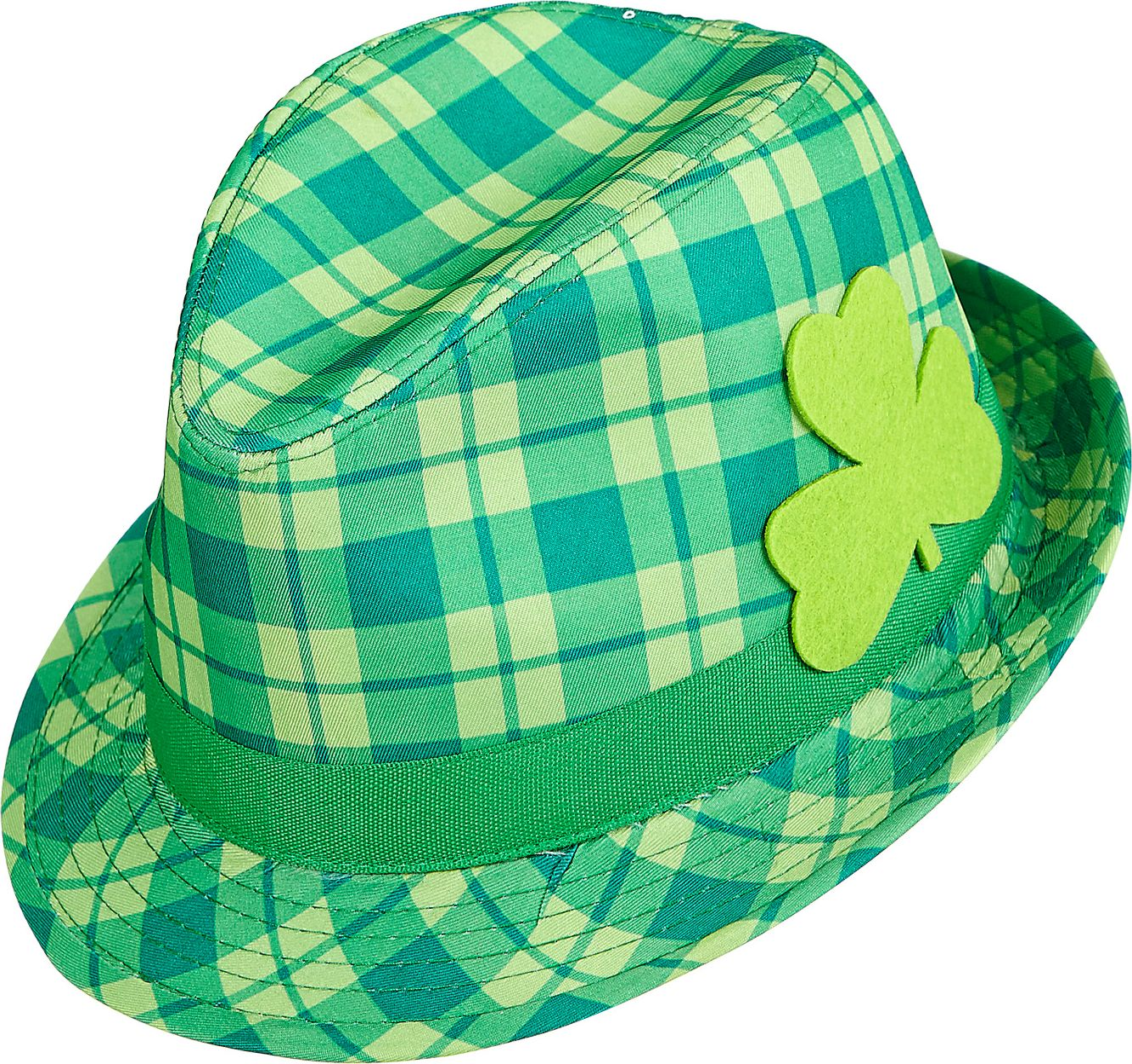 St. Patrick's Day tartan fedora