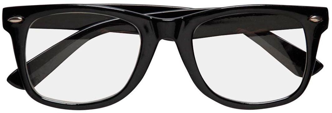 Standaard zwarte bril