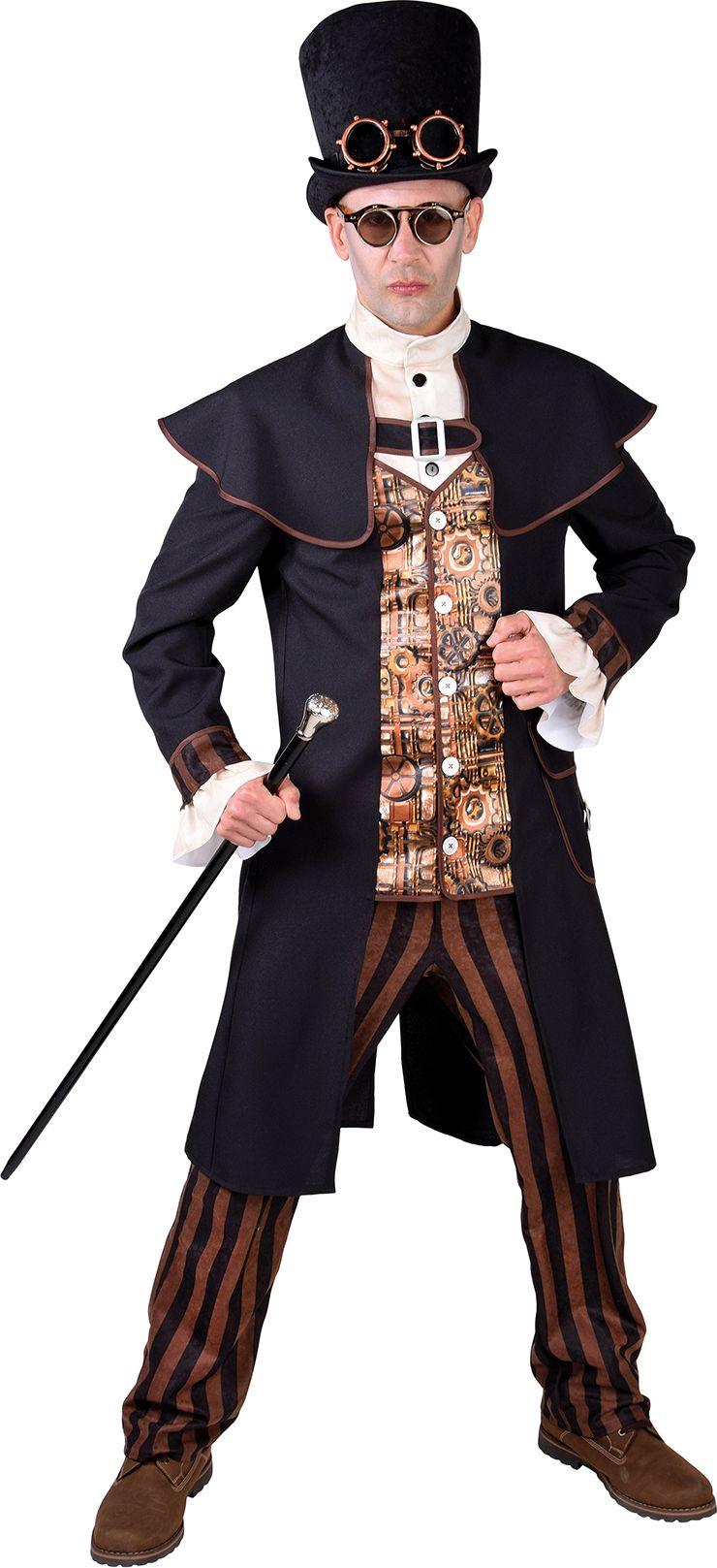 Steampunk 1900 heren kostuum