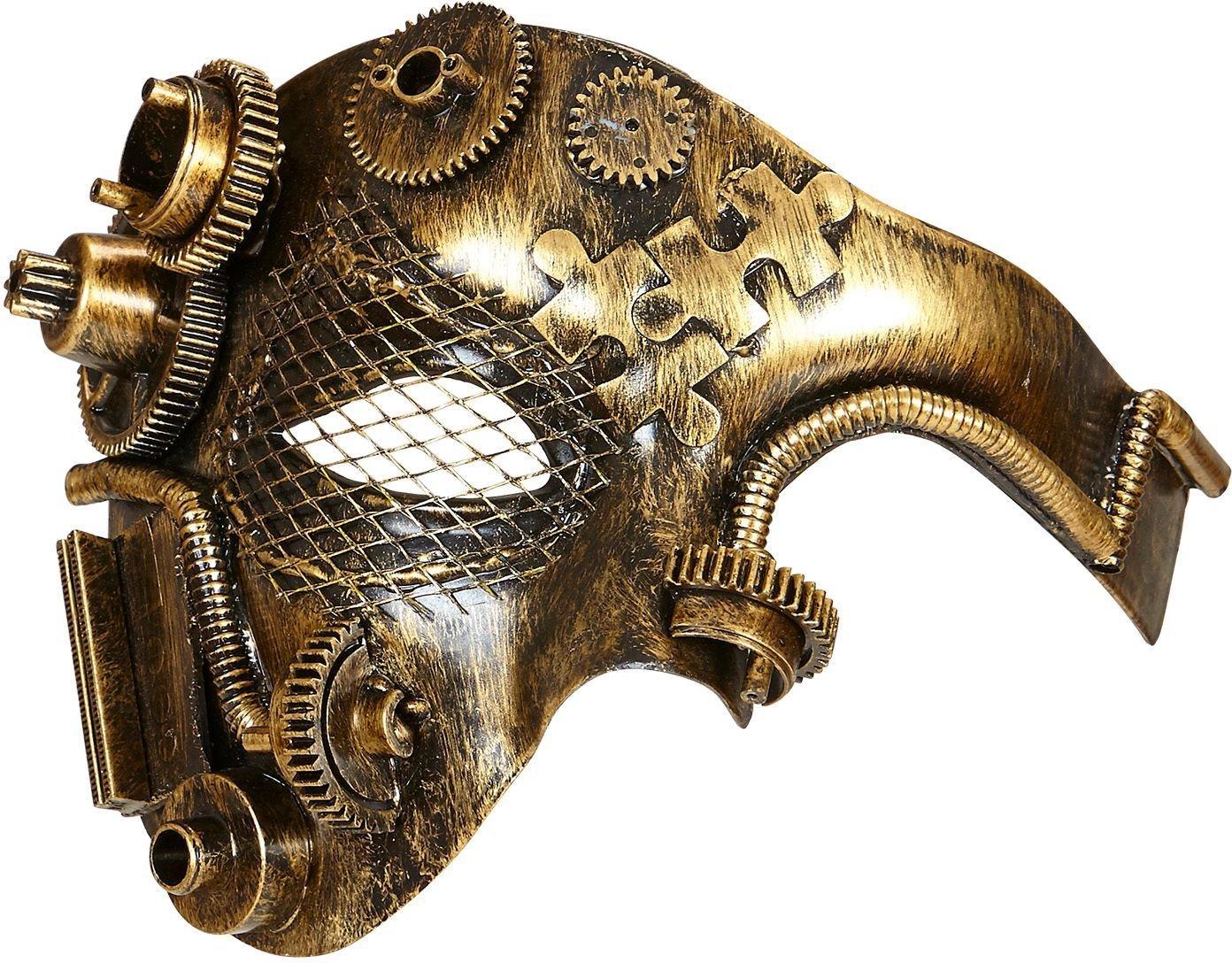 Steampunk half-gezichts masker goud
