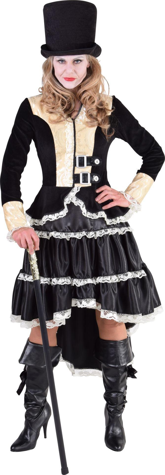 Steampunk jurk zwart dames
