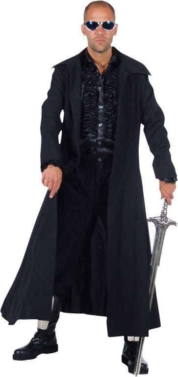 Steampunk mantel zwart mannen
