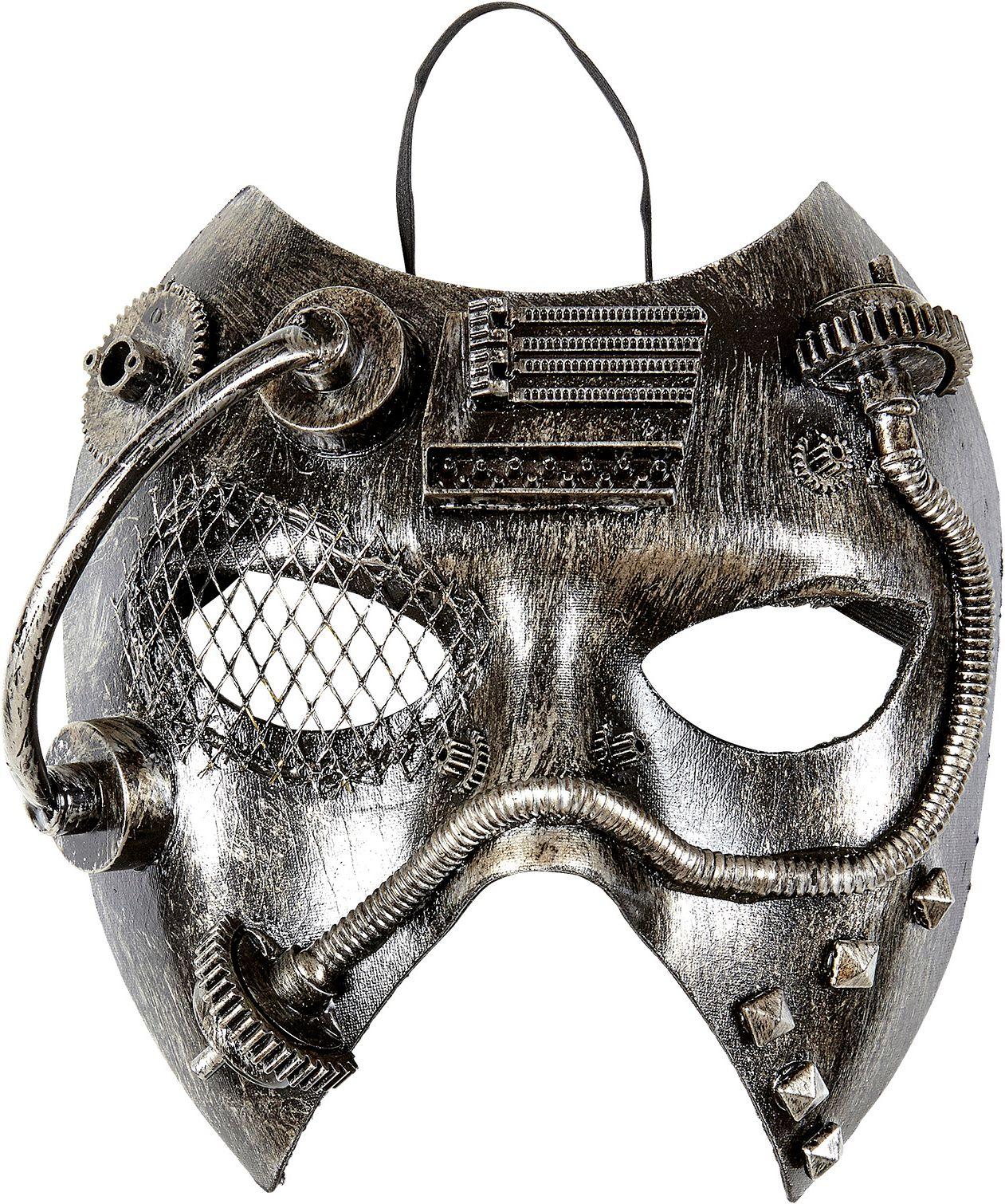 Steampunk masker zilver