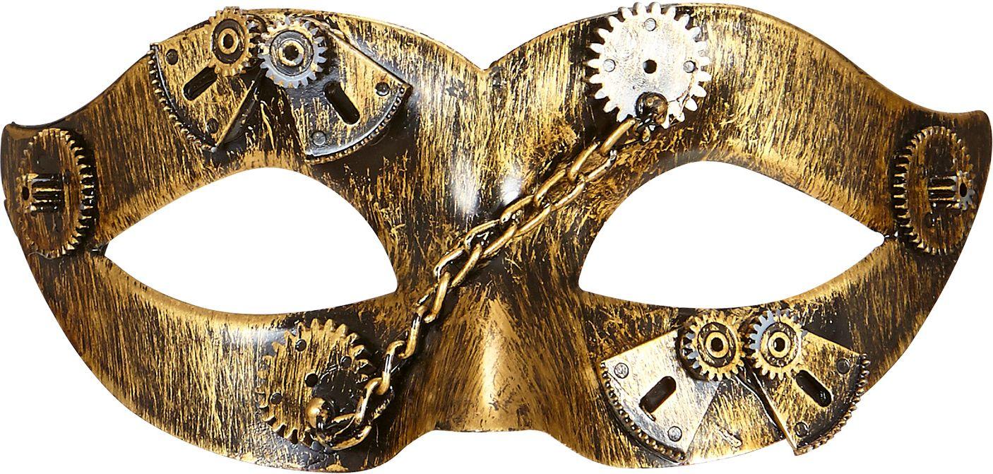 Steampunk oogmasker goud