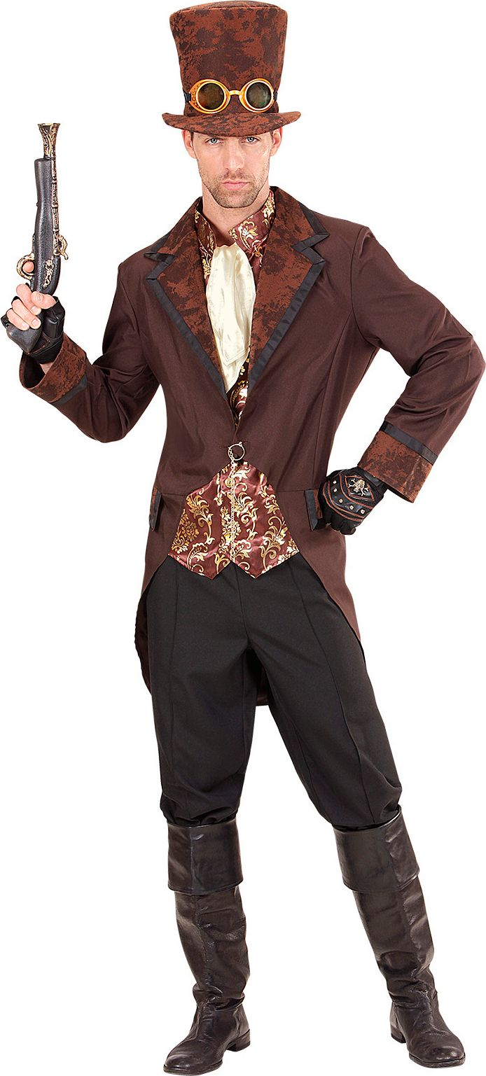 Steampunk outfit bruin