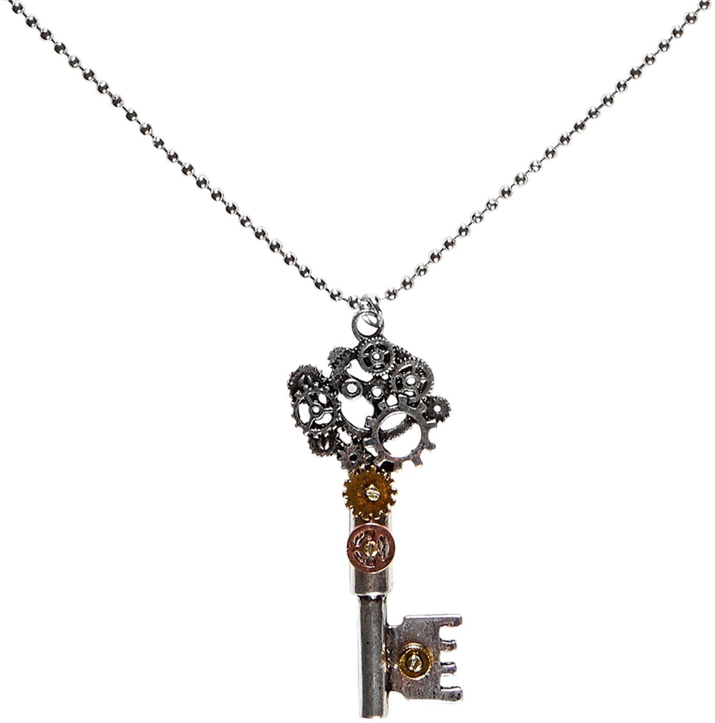 Steampunk sleutel halsketting