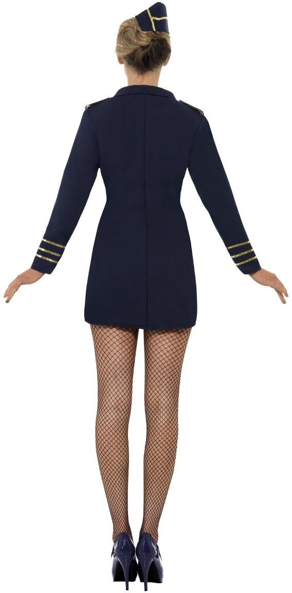 Stewardess blauw dames pakje
